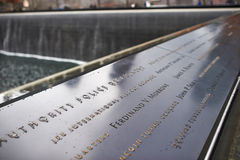 New York 9/11 mémorial au World Trade Center point zéro Photos libres de droits