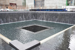New York 9/11 mémorial au World Trade Center point zéro Photographie stock libre de droits