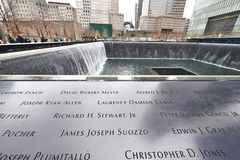 New York 9/11 mémorial au World Trade Center point zéro Photos libres de droits