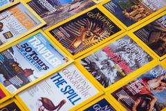 New York - MAART 7, 2017: National Geographic op 7 Maart in Nieuw stock foto's
