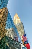 NEW YORK - 22 MAGGIO: Facciata edificio di Chrysler, rappresentata maggio sopra Fotografia Stock