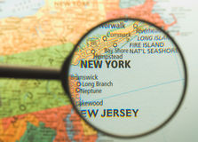 New York Magnified Royalty Free Stock Photography