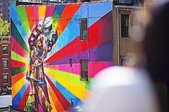 New York - Malerei-Wand Stockfoto