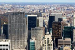 New York Manattan View Uptown Past Central Park Stock Photo