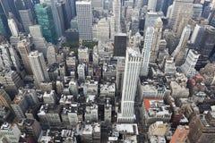 New york: manhattan aerial view Royalty Free Stock Image