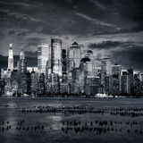 New York Manhattan bei Sonnenuntergang Stockbilder