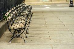 New York Manhattan bench. Shooting location :  Manhattan, New York royalty free stock images