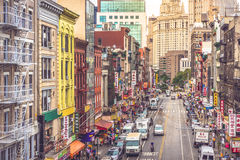 New York, Manhattan, Chinatown Immagine Stock Libera da Diritti