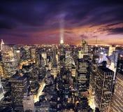 New York Manhattan dal wiev di prospettiva degli uccelli Fotografie Stock Libere da Diritti
