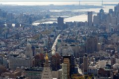 New York Manhattan e Brooklyn ao console de Staten Fotografia de Stock