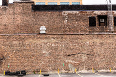 New York Manhattan grunge brick wall texture US Stock Photos