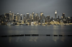 New York Manhattan from JFK Boulevard East Stock Photos