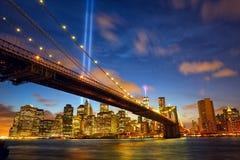 New York Manhattan in memoria del dell'11 settembre Immagine Stock Libera da Diritti