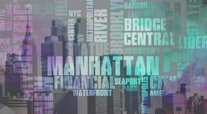 Manhattan. New York. Manhattan. Modern art Stock Image