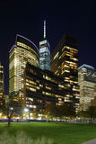 New York Manhattan at night Royalty Free Stock Image