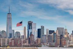 New York Manhattan Panorama landscape. New York Manhattan Panorama cityscape on sunny day Royalty Free Stock Photography