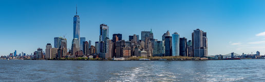New York Manhattan Panorama landscape. New York Manhattan Panorama cityscape on sunny day Royalty Free Stock Images