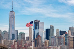 New York Manhattan Panorama landscape. New York Manhattan Panorama cityscape on sunny day Stock Photography