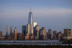 New York. Manhattan skyline in sunset light Stock Images