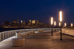 New York - Manhattan skyline  view by night from Hoboken waterfront Stock Image