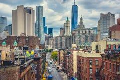 New York, Manhattan, un mondo Observatoty Fotografia Stock