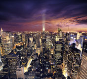 New York Manhattan vanuit vogelsperspectief wiev royalty-vrije stock foto's