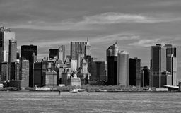 New York Manhattan view in black and white Stock Image