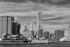 New York Manhattan view from East River Royalty Free Stock Photo