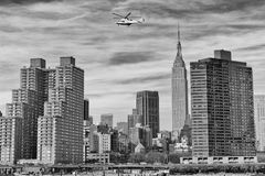 New York Manhattan view from East River Stock Image