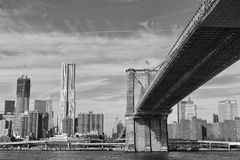 New York Manhattan view from East River Royalty Free Stock Photography