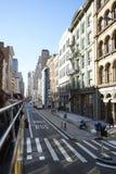 New York Manhatten Road Day Light. Skyscraper Stock Photography