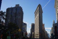 New York Manhatten Road Day Light. Skyscraper Royalty Free Stock Image