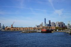 New York Manhatten Side with Hudson River.  Royalty Free Stock Photo