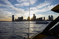 New York Manhatten Side with Hudson River.  Stock Photo