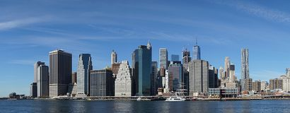 New York Manhatten Side with Hudson River.  Royalty Free Stock Image