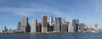 New York Manhatten Side wirh Hudson River.  Stock Photo