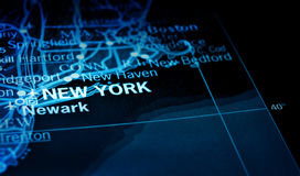 New york on map Stock Images