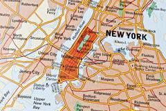 New York map Stock Photos