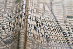 New York map from 1903 texture Royalty Free Stock Image
