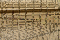 New York map from 1903 texture Royalty Free Stock Photo