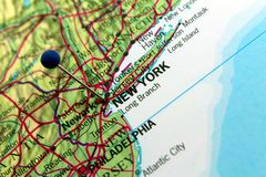 New York map Royalty Free Stock Photo