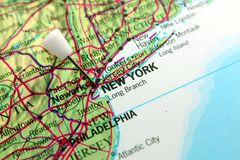New York Map Royalty Free Stock Photography