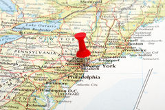 New York Map Pin Stock Image