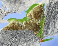 New York, mapa de relevo do estado Ilustração Royalty Free