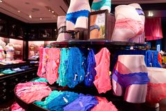 Victoria's Secret store. NEW-YORK - MARCH 15, 2016: interior of Victoria's Secret store. Victoria's Secret is the largest American retailer of women's lingerie Royalty Free Stock Photos