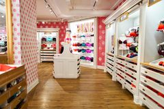 Victoria's Secret store. NEW-YORK - MARCH 15, 2016: interior of Victoria's Secret store. Victoria's Secret is the largest American retailer of women's lingerie Royalty Free Stock Image