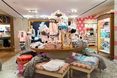 Victoria's Secret store. NEW-YORK - MARCH 15, 2016: interior of Victoria's Secret store. Victoria's Secret is the largest American retailer of women's lingerie Stock Images