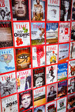 New York - MARCH 7, 2017: Time Magazine on March 7 in New York, Stock Photography
