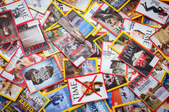 New York - MARCH 7, 2017: US magazines on March 7 in New York, U Royalty Free Stock Photography