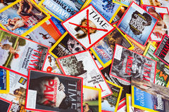 New York - MARCH 7, 2017: US magazines on March 7 in New York, U Stock Image